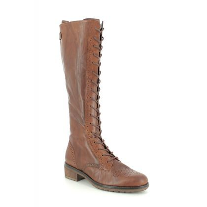 Gabor Knee High Boots - Tan Leather - 31.616.54 DION