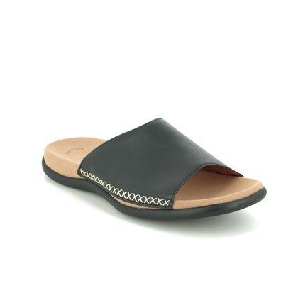 Gabor Slide Sandals - Black leather - 03.705.27 EAGLE