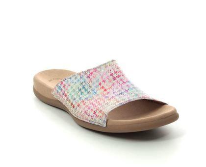 Gabor Slide Sandals - White multi - 43.705.38 EAGLE