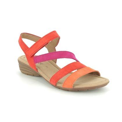 Gabor Comfortable Sandals - Orange multi - 44.551.14 EARL