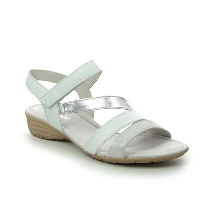 Gabor Comfortable Sandals - White-silver - 44.551.61 EARL