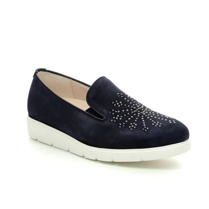 Gabor Comfort Slip On Shoes - Navy - 22.580.36 ECHO