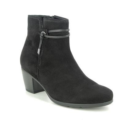 Gabor Ankle Boots - Black Suede - 55.522.17 ELA