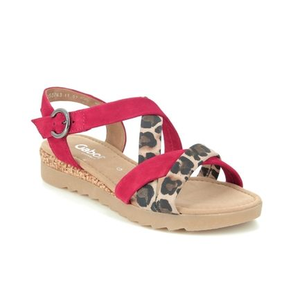 Gabor Flat Sandals - Red multi - 42.741.68 ELIXIR