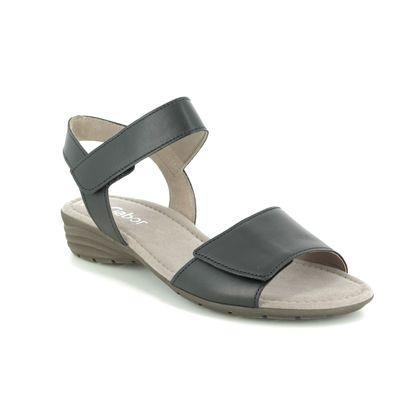 Gabor Comfortable Sandals - Black leather - 44.552.27 ENTITLED