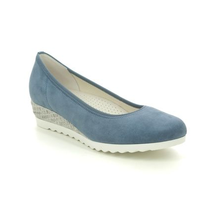 Gabor Wedge Shoes  - Blue nubuck - 42.641.16 EPWORTH