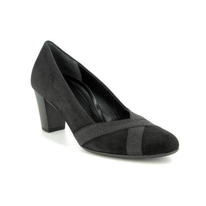 Gabor Court Shoes - Black Suede - 32.163.47 FORAGE