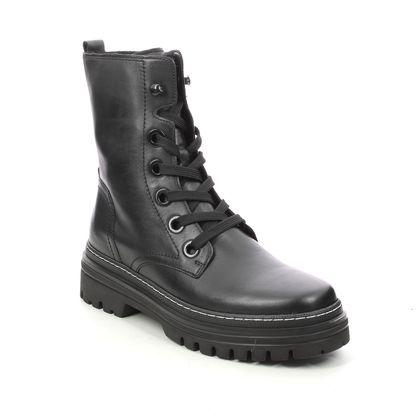 Gabor Biker Boots - Black leather - 71.721.21 GENOA