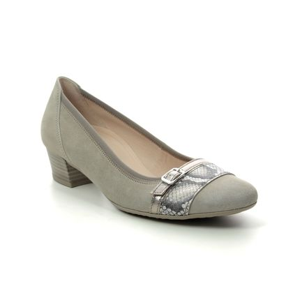 Gabor Court Shoes - Light Grey Nubuck - 42.203.42 HAPPY