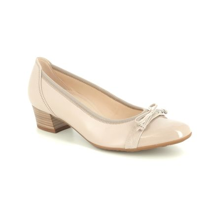 Gabor Court Shoes - Nude Patent - 22.205.22 HAYLEY
