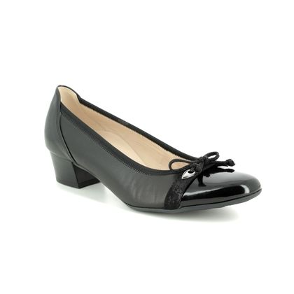 Gabor Court Shoes - Black patent - 22.205.57 HAYLEY