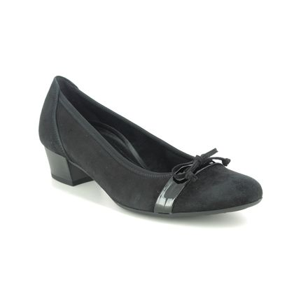Gabor Court Shoes - Black suede - 52.205.87 HAYLEY