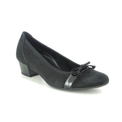 Gabor Court Shoes - Black suede - 52.205.87 HAYLEY