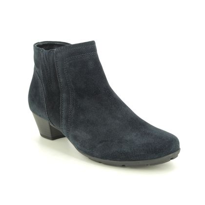 Gabor Ankle Boots - Navy Suede - 55.628.10 HERITAGE TRUDY