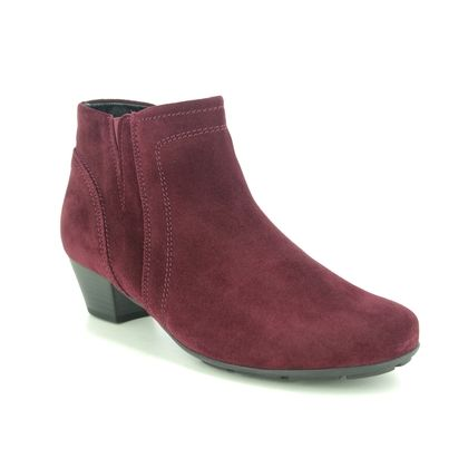 Gabor Ankle Boots - Red suede - 55.628.15 HERITAGE TRUDY