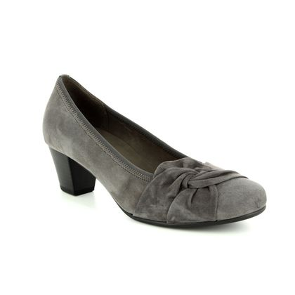 Gabor Court Shoes - Grey-suede - 95.484.19 JANA