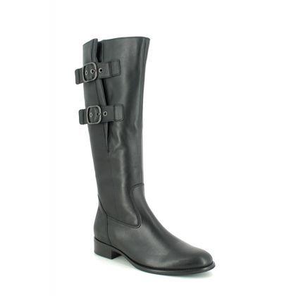 Gabor Knee High Boots - Black leather - 31.641.57 KALMER ASTORIA ADJUSTABLE CALF