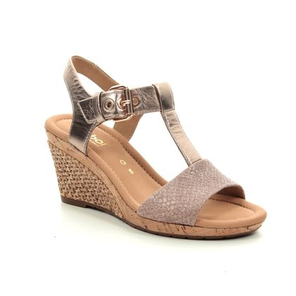Gabor Wedge Sandals - Gold - 22.824.13 KAREN