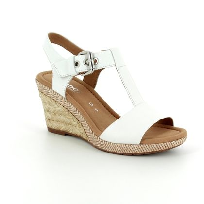 Gabor Wedge Sandals - White - 82.824.50 KAREN