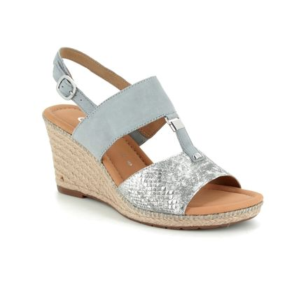 Gabor Wedge Sandals - Silver multi - 22.827.60 KEIRA