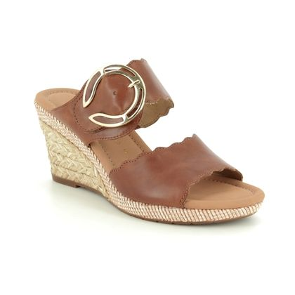Gabor Wedge Sandals - Tan - 22.829.54 KENT