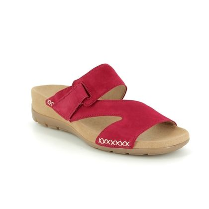 Gabor Slide Sandals - Red suede - 23.730.15 KIRBY