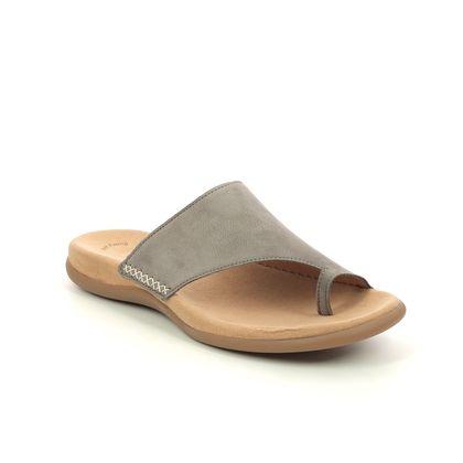 Gabor Toe Post Sandals - Taupe nubuck - 03.700.13 LANZAROTE