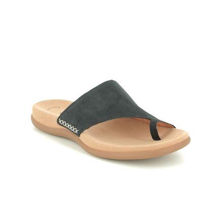 Gabor Toe Post Sandals - Navy Nubuck - 03.700.16 LANZAROTE