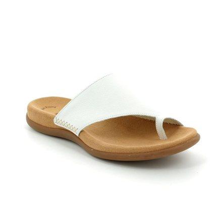 Gabor Comfortable Sandals - White - 03.700.21 LANZAROTE