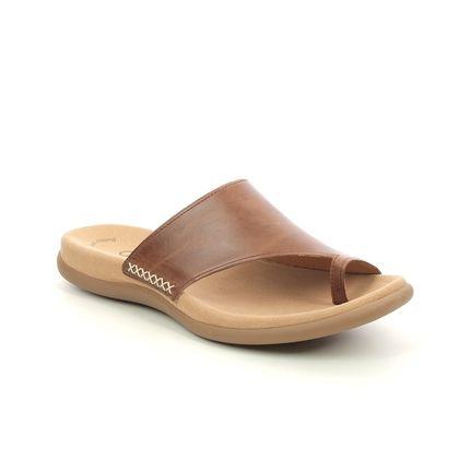Gabor Toe Post Sandals - Tan - 23.700.24 LANZAROTE