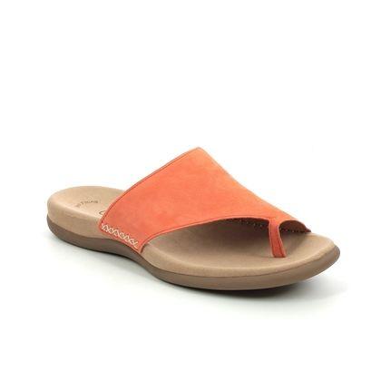 Gabor Toe Post Sandals - Orange suede - 63.700.10 LANZAROTE