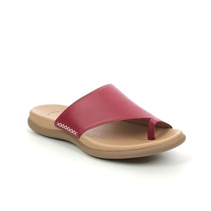 Gabor Toe Post Sandals - Red leather - 43.700.25 LANZAROTE