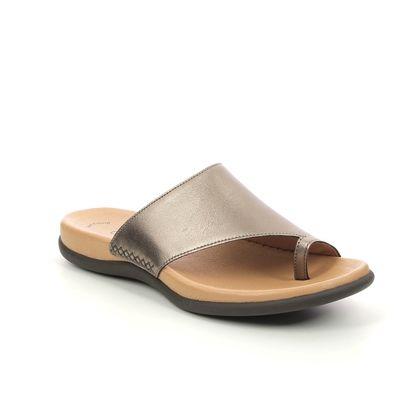 Gabor Toe Post Sandals - Metallic - 63.700.51 LANZAROTE