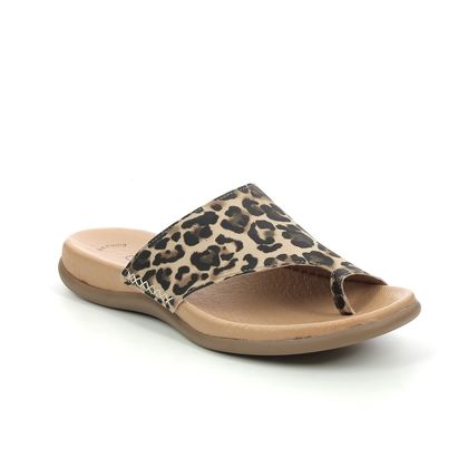 Gabor Toe Post Sandals - Leopard print - 63.700.57 LANZAROTE
