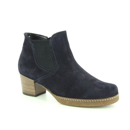 Gabor Fashion Ankle Boots - Navy Suede - 96.661.36 LILIA
