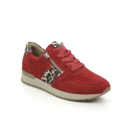 Gabor Trainers - Red suede - 73.420.15 LULEA