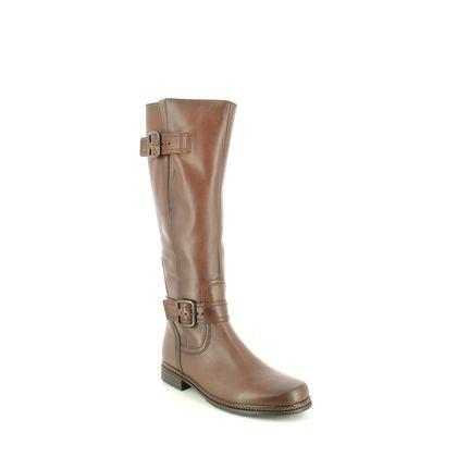 Gabor Knee High Boots - Tan Leather - 74.679.24 NEVADA MED LEG