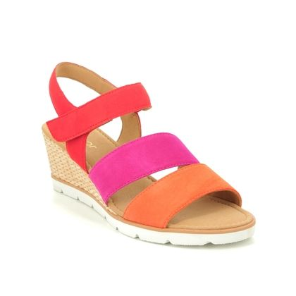 Gabor Wedge Sandals - Red multi - 45.752.10 POET
