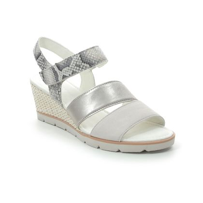 Gabor Wedge Sandals - White-silver - 45.752.11 POET
