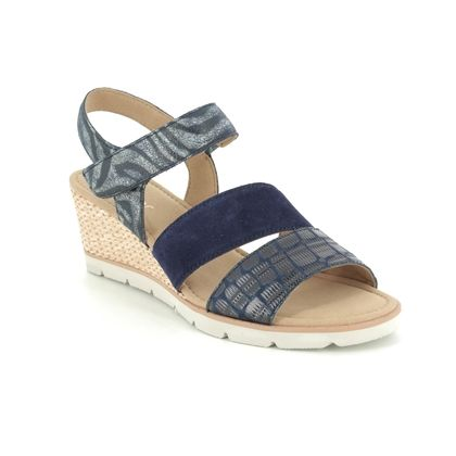 Gabor Wedge Sandals - Navy - 45.752.36 POET