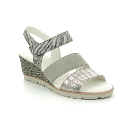 Gabor Wedge Sandals - Grey - 45.752.38 POET