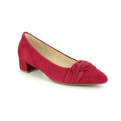Gabor Court Shoes - Red nubuck - 41.430.15 PRINCE