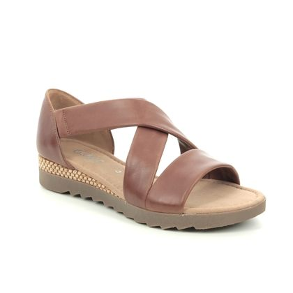 Gabor Comfortable Sandals - Tan Leather  - 62.711.56 PROMISE