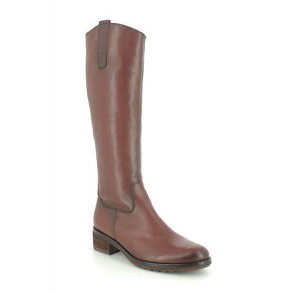 Gabor Knee High Boots - Tan Leather  - 51.618.22 SHIELDS PALMER SLIM LEG