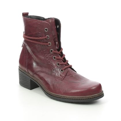 Gabor Lace Up Boots - Red leather - 74.660.55 SOUL