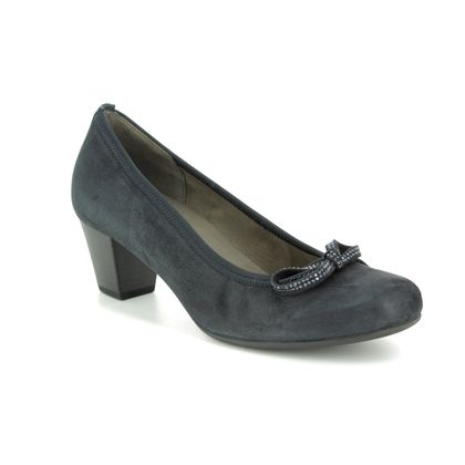 Gabor Court Shoes - Navy Suede - 25.483.16 STAINBY