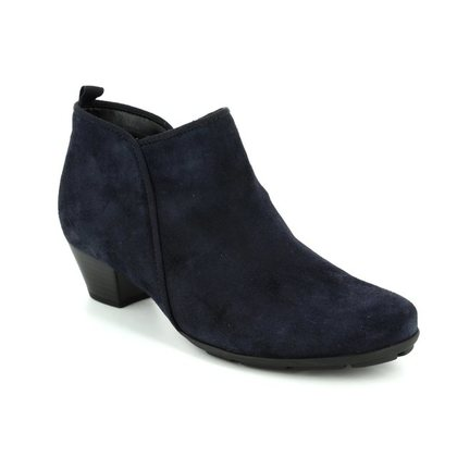 Gabor Fashion Ankle Boots - Navy Suede - 75.633.16 TRUDY