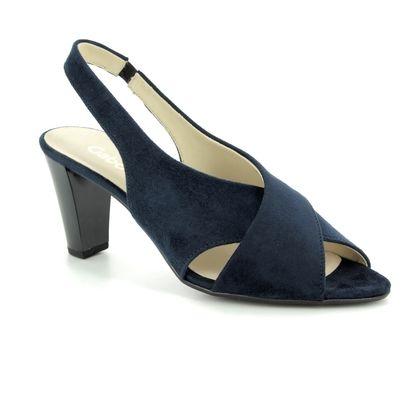 Gabor Slingback Shoes - Navy Suede - 21.831.48 ZEUS