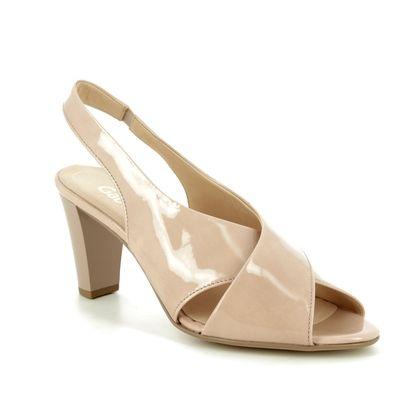 Gabor Slingback Shoes - Nude Patent - 21.831.70 ZEUS