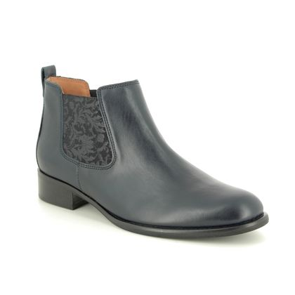 Gabor Chelsea Boots - Navy Leather - 31.640.56 ZODIAC